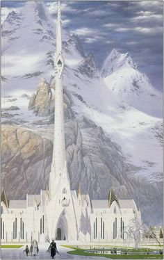 At the Court of the Fountain - Ted Nasmith