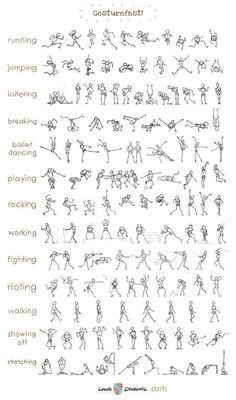 Coolest collection of stick figure action poses ever.:
