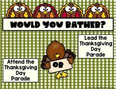 Would you rather Thanksgiving Thanksgiving would you rather for kids would you rather thanksgiving edition Silly Games, Fun Games, Games To Play, Thanksgiving Day Parade, Thanksgiving Activities, Fun Classroom Games, Would You Rather Questions, Read Aloud Books, Reading Comprehension Passages