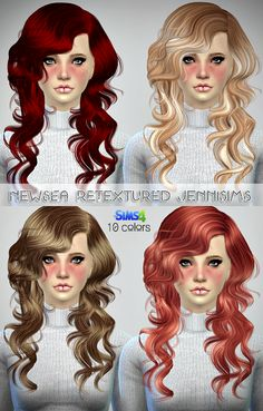 Jennisims: Downloads sims 4: Newsea Night Bloom Hair and Joice hair retextured