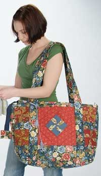The Lime Twist Quilter's Bag Pattern by Among Brenda's Quilts : PursePatterns.com, Sew your own unique purse or bag!