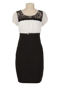 Lace Top 2Fer Dress available at #Maurices