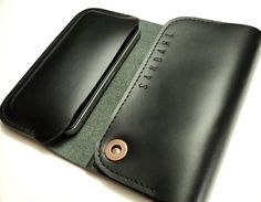 iPhone 5 case & wallet  black leather by semofir
