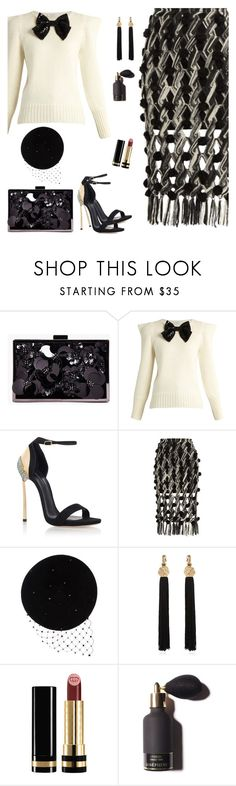 """Random Embellishments"" by majezy ❤ liked on Polyvore featuring Boohoo, Yves Saint Laurent, Casadei, Tabula Rasa, Victoria Grant and Gucci"