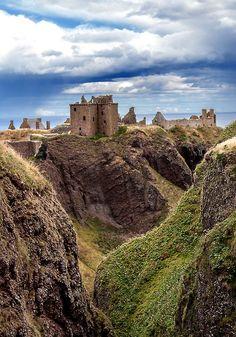 At the Dunnottar Castle in Dunnottar, Scotland.