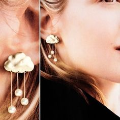 rainy gold cloud earrings/ i totally need these lol