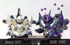 POINTNET.COM.HK - SD NEO ZEONG Custom Sinanju Axtyz + Sazabi Zeoniz