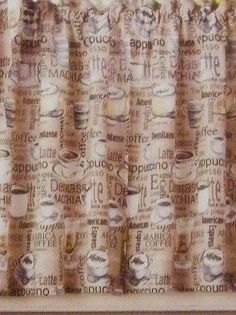 Amazing Coffee Curtains Valance (Cappuccino) Kitchen Coffee Decor | Coffee  Decorating Ideas | Pinterest | Curtain Valances, Valance And Kitchens