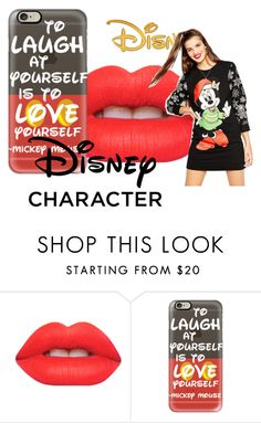 """""""disney character"""" by freak-star ❤ liked on Polyvore featuring Lime Crime, Casetify, Disney and ASOS"""