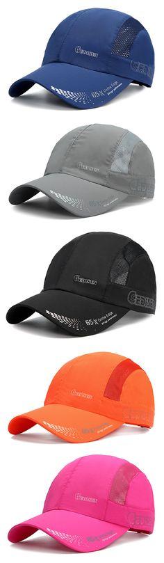 Mens Women Thin Breathable Mesh Quick-Drying Baseball Hat Outdoor Sport  Fishing Visor Snapback Cap 916cb4b2c3d0