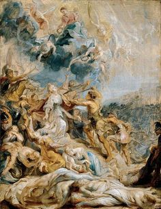 """The legend of Saint Ursula recounts how the virtuous daughter of a British Christian king and her 11,000 companions were slaughtered by Huns near Cologne, Germany. 