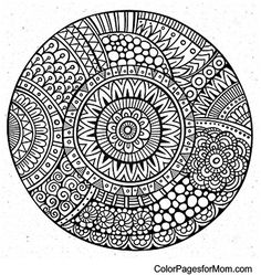 coloring pages for adults Mandala Adult Coloring Pages, Coloring Pages For Grown Ups, Mandala Coloring Pages, Colouring Pages, Coloring Books, Wallpaper Flower, Wallpaper Wall, Mandalas Drawing, Pointillism