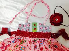 Girl Dress Size 2T; Sweat Ellie Halter; Handmade; Everyday Use; 100% Cotton #Handmade #DressyEverydayHoliday