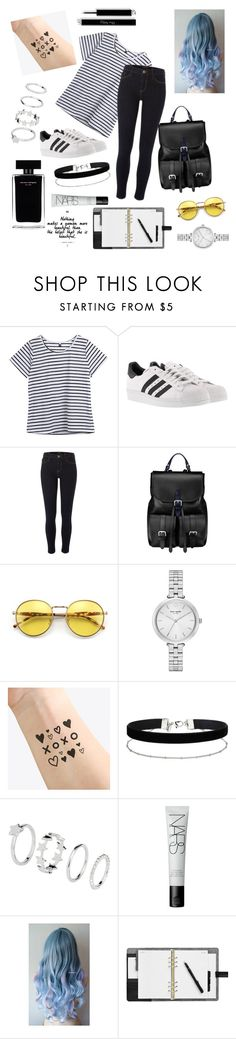 """😍"" by alaxaaleys ❤ liked on Polyvore featuring adidas, River Island, Aspinal of London, Wildfox, Kate Spade, NAVUCKO, Miss Selfridge, Narciso Rodriguez and NARS Cosmetics"