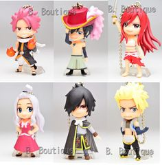 Anime Fairy Tail figure keychain strap x1 ONLY Natsu Erza Gray Rogue Sting in Other | eBay