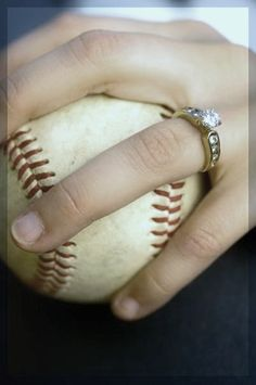 For those of you who know I date a baseball player and this will be an engagement picture!