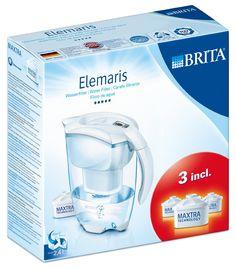 ¡Chollo! Jarra Elemaris de BRITA de 2,4 litros   3 filtros incluidos por tan sólo 18 euros. Mitad de precio