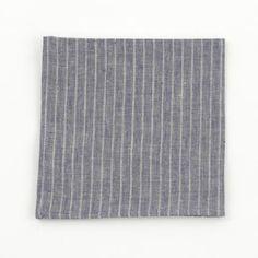 Fog Linen Work Napkin Navy Stripe