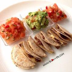 Mini quesadillas integrales