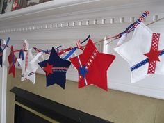 make a Fourth of July bunting