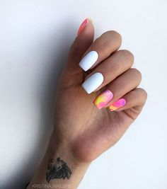 10 'Must-Try' Black and White Nails You Have to See! Aycrlic Nails, Dope Nails, Hair And Nails, American Nails, Square Nail Designs, Glitter Manicure, Best Acrylic Nails, Dream Nails, Square Nails