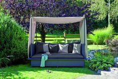 daybed in garden