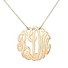 Monogram necklace! Want one so bad!