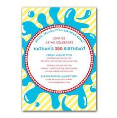 Summer Splash Birthday Invitations