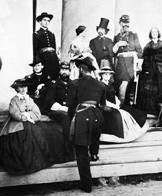 Civil War Photo Print Women Soldiers at Arlington