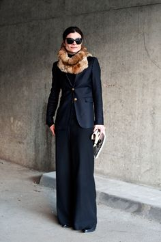 Blazer w Maxi for Winter - done right because the skirt is a heavier looking fabric.