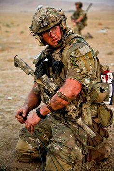 Army background.