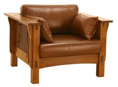 American Mission Spindle Sofa Chair AMW-1203, Mission Sofas and Morris Chairs, Tree Crowns Furniture, Mission Furniture