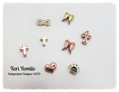 New Fall 2013 Origami Owl Living Locket CHARMS gold & rose gold polished crosses & double angel wings; rose gold vintage cross, rosegold mom heart, gold infinity & rosegold paw print- Avail for purchase Oct Origami Owl Charms, Origami Owl Lockets, Origami Owl Jewelry, Floating Lockets, Personalized Charms, Locket Charms, Gold Polish, Jewelry Companies, Custom Jewelry
