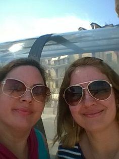 Irmãs gêmeas Cristiane e Eliane L Fossatti em Gênova