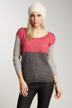 Splendid Colorblock Knit Sweater
