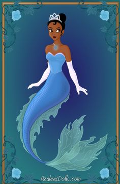 All Disney Princesses as Mermaids   Tiana- Disney Mermaids by WolfsGesang