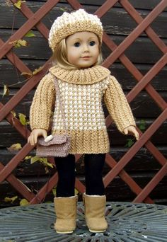 AMERICAN GIRL18 INCH DOLL SET KNITTING P pattern on Craftsy.com