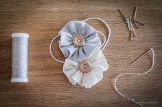 Eko opaska na głowę! Prezent na chrzciny dla dziewczynki. Handmade.