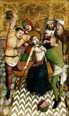 Barbara Altarpiece (The Martyrdom of St. Date 1447 Medium tempera and gold on wood Medieval Life, Medieval Art, Renaissance, Maleficarum, Medieval Paintings, Satanic Art, Book Of Hours, The Dark World, Medieval Manuscript