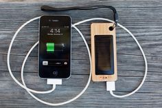 Fabulous bamboo solar charger for travel.