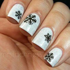 snowflakes by mrslochness #nail #nails #nailart