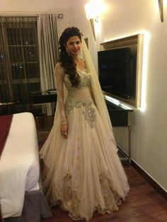 East meets West fusion bridal gown by kamaali. South Asian bridal gown