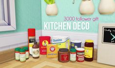"""lina-cherie:  """" Kitchen deco - 11 meshes by Living Dead Girl  3000 Follower~gift  I seriously can't believe there's now 3000 of you following me, thank you so much! ❤ To celebrate that I made a little gift which I hope you'll like.  I've used Paisley..."""