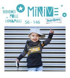 """Nähanleitungen Kind - eBook """"MiniMe"""" - Hoodie Pulli Gr. 56 - 146 - ein Designerstück von Fusselfreies bei DaWanda"""