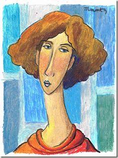 Larissa marantz in Modigliani style