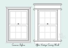 DIY craftsman style window trim