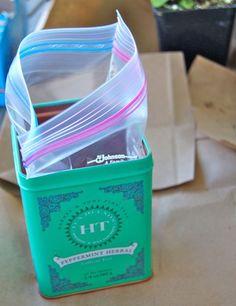 Earth Day Project: Tea Tin Herb Garden | Mireio Designs
