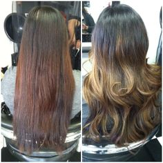Dimensional Color (Ombre) & Haircut by Artistic Stylist Nancy. Fall in love with your hair all over again and make your appointment with Nancy today! :) 714-952-2030