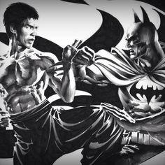 Most epic fight Bruce lee vs batman Comic Book Heroes, Comic Books Art, Comic Art, Book Art, Batman Pictures, Bruce Lee Art, Dragon Rise, Big Dragon, Dragon Ball