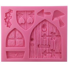Funshowcase Enchanted Vintage Fairy Garden Fairy or Gnome Home Door Silicone Mold, for Cake Decorating, Crafting, Polymer Clay, Resin: Kitchen & Dining Clay Projects, Clay Crafts, Gnome House, Gnome Door, Fairy Crafts, Clay Fairies, Vintage Fairies, Fairy Doors, Fairy Land